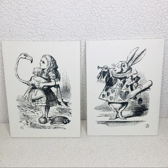 Wall Art Alice In Wonderland Black White Canvas Poshmark